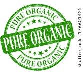pure organic grunge green round ...   Shutterstock . vector #176601425