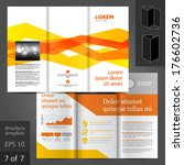 vector white brochure template... | Shutterstock .eps vector #176602736