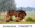 A Rusty Vintage Farm Tractor On ...