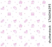 seamless pattern with icon set. ...