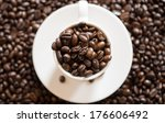 close up coffee mug  with... | Shutterstock . vector #176606492