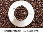 close up coffee mug  with... | Shutterstock . vector #176606495