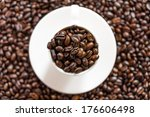 close up coffee mug  with... | Shutterstock . vector #176606498