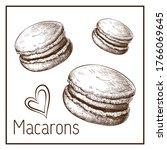 Hand Drawn Cute Macarons...