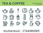 set of tea or coffee drink... | Shutterstock .eps vector #1766080085