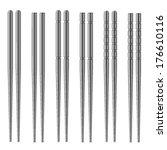 Vector Chrome Chopsticks