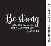 be strong and courageous ... | Shutterstock .eps vector #1766116445