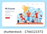 physical education lesson... | Shutterstock .eps vector #1766121572
