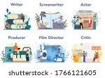 film production profession set. ... | Shutterstock .eps vector #1766121605