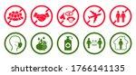 orona virus set infographic... | Shutterstock .eps vector #1766141135
