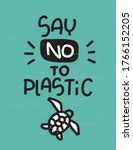 plastic pollution quote vector... | Shutterstock .eps vector #1766152205