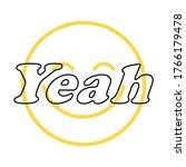 happy slogan t shirt print... | Shutterstock .eps vector #1766179478