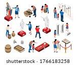 isometric historical museum set ... | Shutterstock .eps vector #1766183258