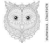 owl head vector graphic  adult... | Shutterstock .eps vector #1766191478