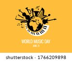 world music day with musical...   Shutterstock .eps vector #1766209898
