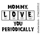 mother text as periodic table...   Shutterstock .eps vector #1766220512