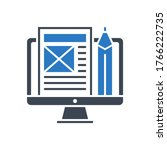 blog management related vector... | Shutterstock .eps vector #1766222735
