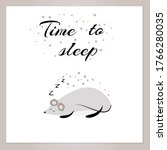 caption time to sleep with a...   Shutterstock .eps vector #1766280035