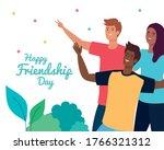 happy friendship day  young men ...   Shutterstock .eps vector #1766321312