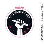 left hander's day emblem   left ... | Shutterstock .eps vector #1766327468