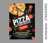 pizza flyer design template... | Shutterstock .eps vector #1766335505