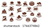 chocolate candies and sweets... | Shutterstock .eps vector #1766374862