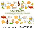 Soy And Soybean Products Vecto...