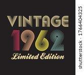 1962 vector vintage retro tshirt design