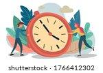 Time Management Concept  Flat...