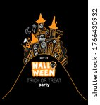 vector halloween illustration... | Shutterstock .eps vector #1766430932