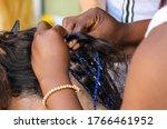 Girl Braids Blue African Braids ...