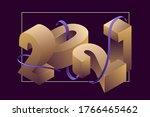 happy new year 2021 flat...   Shutterstock .eps vector #1766465462