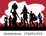 silhouette of exodus of...   Shutterstock .eps vector #1766511515