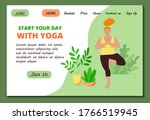 web page template for home yoga ...