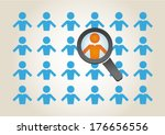search for the right employee | Shutterstock .eps vector #176656556