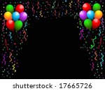 balloons  streamers and confetti | Shutterstock .eps vector #17665726