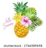 Watercolor Summer Floral...