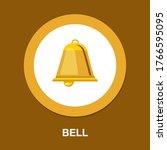 alarm sign. clock bell icon.... | Shutterstock .eps vector #1766595095