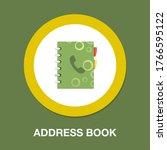 address book flat icon ... | Shutterstock .eps vector #1766595122