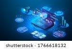 modern flat design isometric... | Shutterstock .eps vector #1766618132