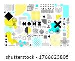 set of universal geometric... | Shutterstock .eps vector #1766623805
