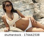 an attractive asian model... | Shutterstock . vector #176662538