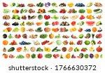 set of fruits  vegetables.... | Shutterstock . vector #1766630372