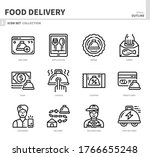 food delivery icon set outline... | Shutterstock .eps vector #1766655248