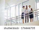 businesswomen discussing over...   Shutterstock . vector #176666735