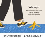 error page with a danger of...   Shutterstock .eps vector #1766668235