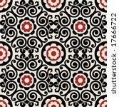 decorative floral pattern | Shutterstock .eps vector #17666722