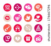 web icon set   valentine's day  | Shutterstock .eps vector #176667296