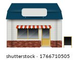 store or cafe front view on... | Shutterstock .eps vector #1766710505