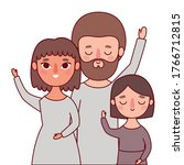 mother father and daughter...   Shutterstock .eps vector #1766712815